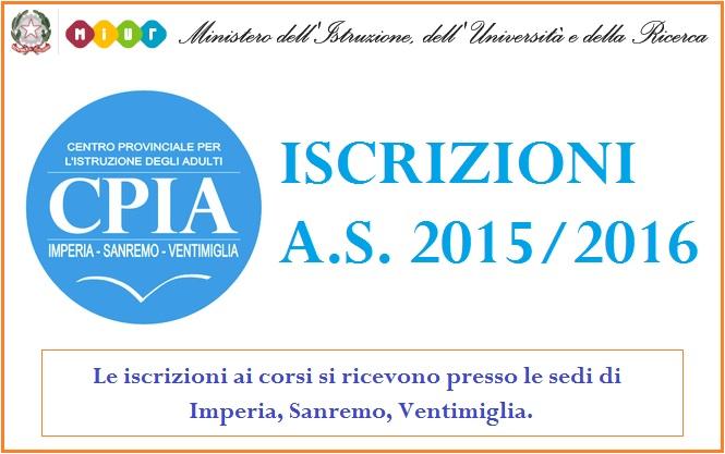Banner iscrizioni AS 2015-16